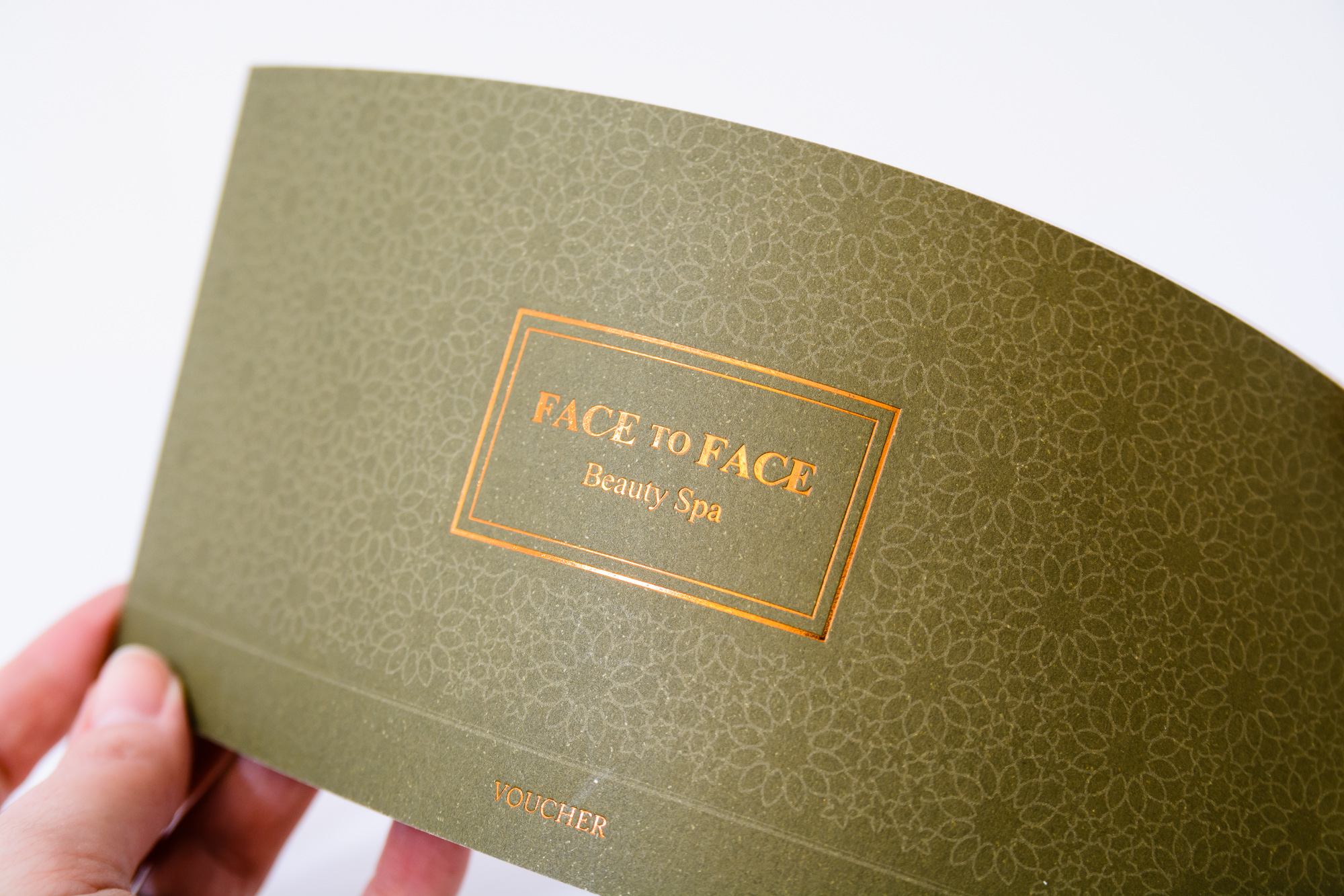 Face to face foil brochure – Geo & Co creative