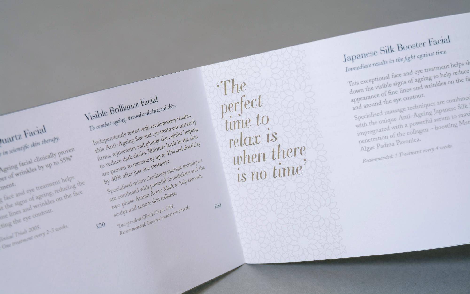 Face to face foil brochure spread 2- Geo & Co creative.